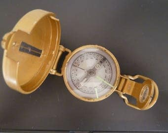Engineer Compass/Lensatic Compass/Liquid filled Engineers Directional Compass/Boy Scouts/Marines/Marked Japan/Vintage/cardinal directions