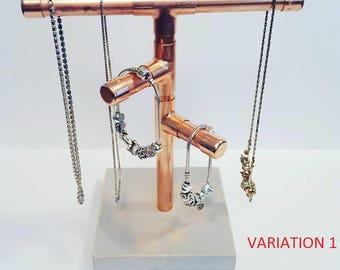 Copper Jewelry Rack