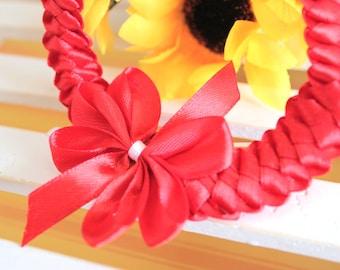 Headband for Newborn and Baby | Red Headband | Satin Headband | Unique Headband