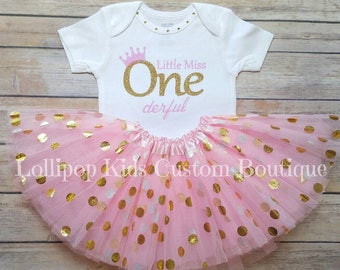Little Miss ONEDerful white birthday shirts only (matching family set available) (tutu separate listing)