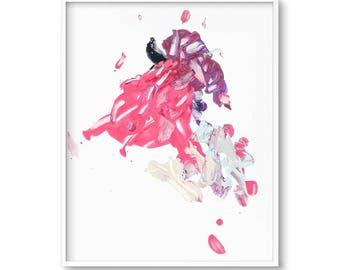 Blush Pink Wall Art, Pink Abstract Painting, Modern Art Print, Printable Abstract Art, Pink Abstract Wall Art, Abstract Painting, Prints