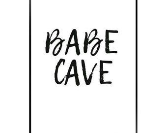BABE CAVE A4 print