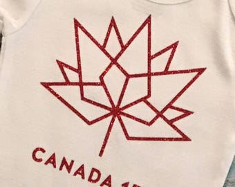 Canada Day Onesie, Canada 150 Bodysuit Fast Turnaround Time Expedited Shipping!