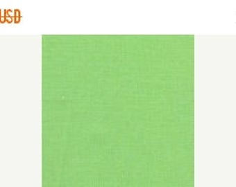ON SALE Lime green twill fabric