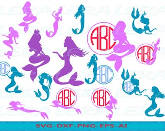 60 % OFF, Mermaid Svg, Mermaid Monogram SVG, Mermaid SVG File, Beach svg, Mermaid svg, png, eps, dxf, Mythology svg, Mermaid svg silhouette