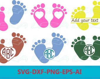 60 % OFF, Baby Feet SVG, Baby Feet Monogram Svg  Files, Svg, Png, Eps, Dxf, Baby Feet Cut Files, Baby Silhouette Files, Baby Clipart