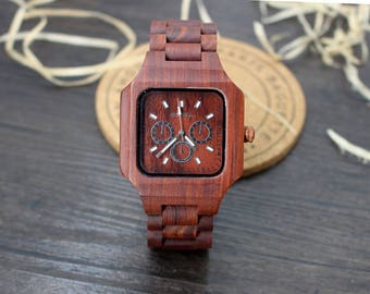 Wedding Gift for Groom Gift for Husband Birthday Gift Boyfriend Gift Mens Personalized Watch Wood Watches for Men Gifts for Men