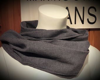 (Small height) mens snood scarf