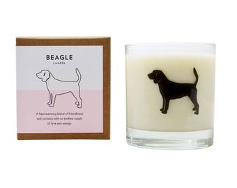 Beagle Soy Candle Soy Candle Beagle Dog Lover Gift Hostess Gift Pet Memorial Gift Scented Candle The Original Scripted Fragrance Candle