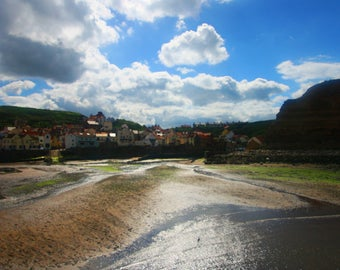 "Photographic print // ""Low Tide"" // Staithes // Seaside"