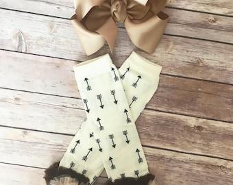 Fall leg warmers - Arrow ruffle leg warmers