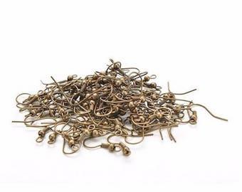 100 hooks earring color bronze