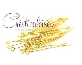 100 nails to eye color Golden 35 x 07 mm