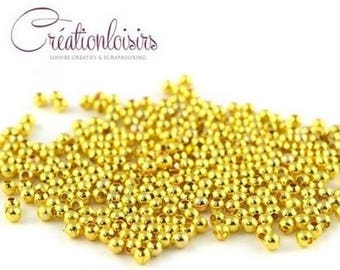 100 Gold 3 mm metal spacer beads
