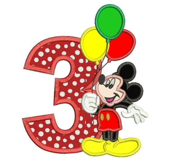 It's just a graphic of Dashing Mickey Mouse 3rd Birthday