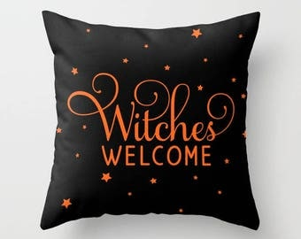 Outdoor Halloween Pillow Decor, Fall Porch Decor, Deck Pillows with Sayings, Witch Pillow, Porch Accessories, Patio Pillows