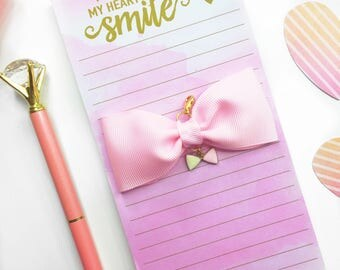 Light Pink Planner Charm/ Planner Charm / Bow Planner Charm
