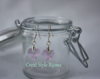very pretty earring with heart pendant