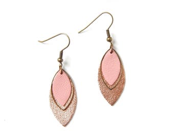 Pia pink gold earrings and pink
