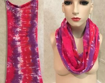 Valentine Scarf - Cotton Jersey Tie Dyed Infinity Scarf