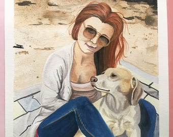 Custom Watercolor Painting Landscape Pets Collections