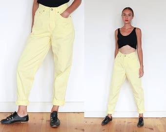 80s Lemon High Waisted Jeans / S