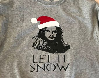 Let is Snow Ugly Christmas Sweater Game of Thrones sweater