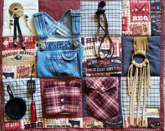 Fidget Blanket for Dad or Grandpa who loved to Barbeque
