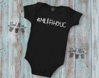 Breastfeeding | Milkaholic | Funny Baby Clothes | Funny Baby Shirt | Trendy Baby | Cute Baby Clothes | Cool Baby Clothes | Taco Baby Shirt