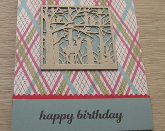 Woodland birthday card, masculine birthday card