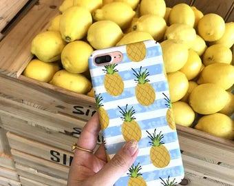 Pineapplephonecase iphone6/6s/7/7s kawaiicutefruitpattern
