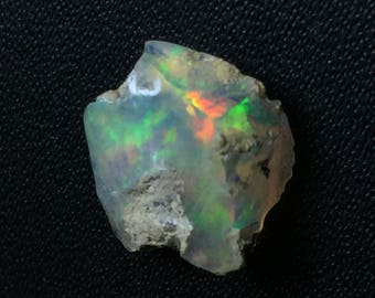 25% Off AAA Natural Ethiopian Welo Opal Rough Gemstone 11x11mm Fire Play Opal Code#RS1