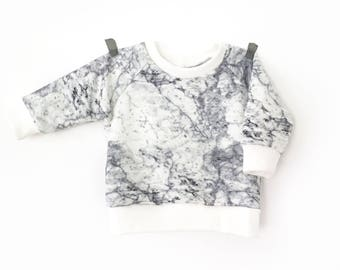 Lightweight Sweatshirt printed marble baby and child-