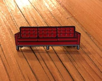 Knoll sofa soft enamel lapel pin
