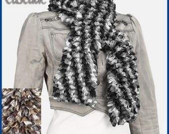 1 skein of yarn scarf Lammy waterfall Brown/gray/khaki