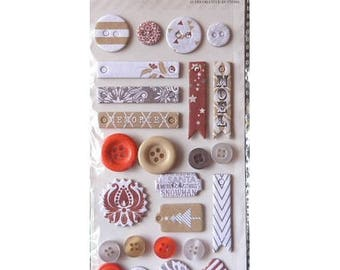Sets of 25 buttons decoration scrapbooking TINSEL AND COMPANY