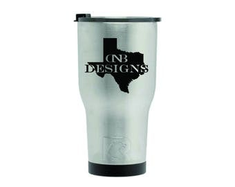 New Style 30oz Custom Laser Engraved RTIC Tumbler | Personalized RTIC Stainless Steel Cup | Laser Engraved RTIC Tumbler | Similar to Yeti