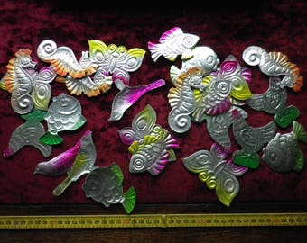 lot of 25 vintage / 1960s / Soviet Christmas tree ornamens / Cardboard ornaments