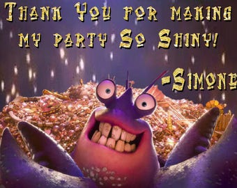 Tamatoa (Moana) Shiny Thank You Card-Personalized- Party Printable- Digital Download