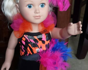 Multi Color Jazz Outfit for American Girl Doll