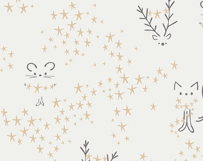 Featured listing image: One Yard Cut - Starbright in Frost - Little Town by Amy Sinibaldi for Art Gallery Fabrics -  Quilters Cotton