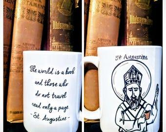 Saint Augustine on Traveling Coffee Mug