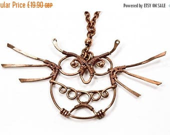 CLEARANCE Copper Owl Necklace