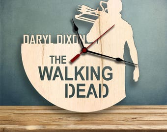 Daryl Dixon clock, The Walking Dead Clock, Gifts for Her, Gifts for Him