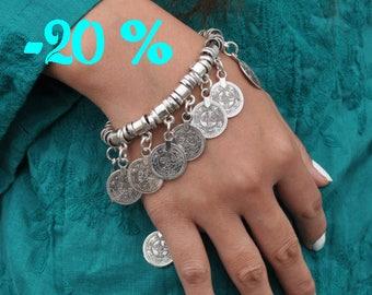 SUMMER SALE / / / boho Antioch silver Bracelet