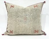 "20"" Moroccan cactus silk sabra pillow cover"