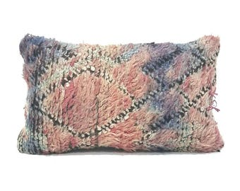 "15""× 24"" Moroccan rug pillow cover"