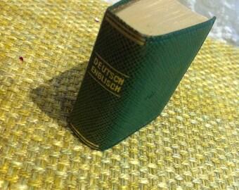 Vintage Langenscheids Lilliput dictionary English gilt edging miniature book Langenscheid #2