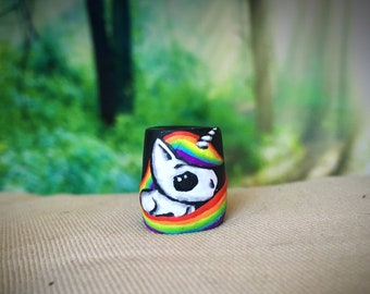 Rainbow Unicorn Dreadlock Bead