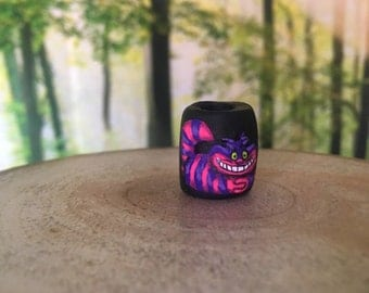 Alice in Wonderland Cheshire Cat Dreadlock Bead